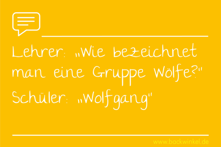 BACKWINKEL Blog – Sprüche: Wie bezeichnet man eine Gruppe Wölfe – Wolfgang