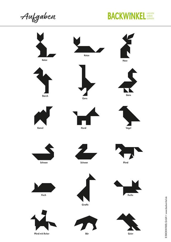 tangram im geometrieunterricht » inkl vorlagen zum