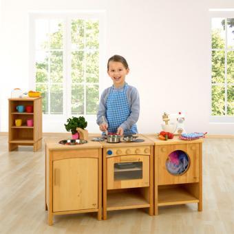 Vollholz-Kinderküche Komplett-Set