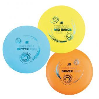 Disc Golf 3er-Wurfscheiben-Set