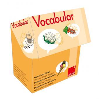Vocabular Wortschatzbilder-Box: Obst, Gemüse, Lebensmittel