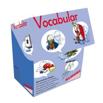Vocabular Wortschatzbilder-Box: Kalender, Zeit, Wetter
