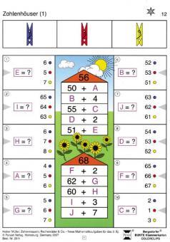 Zahlenmauern, Zahlenhäuser, Rechenräder, Rechendreiecke