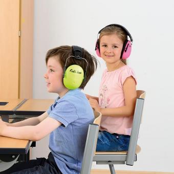 Geräuschdämmer für Schüler Pink