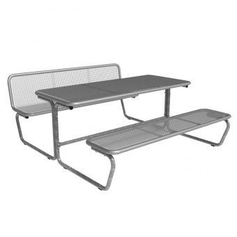 Sitz-Tisch-Kombination Parador Zwei Sitzreihen mit einer Rückenlehne und Draht-Tischplatte