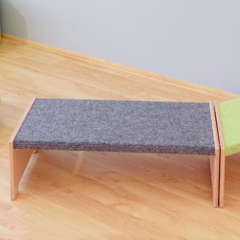 Sitzbänke mit Teppich Teppich Grau
