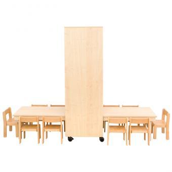 Raumteiler-Klapptische Tischhöhe: 46 cm