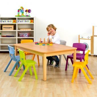 Rechteck-Tisch + 6 Postura+ Stühle 46 cm / 26 cm