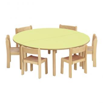 Trentino Stuhl-Tisch-Kombinationen Tischhöhe: 40 cm, Sitzhöhe: 22 cm