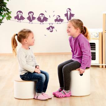 Kindergartenhocker zum Bemalen Größe 1, H: 20,6 cm, Ø: 27,2 cm