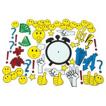 91 Emoticons und Symbole für die Tafel