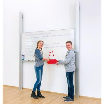 Pylonen-Einflächenschiebetafel Fläche 250 x 100 cm | Whiteboard (für Boardmarker)