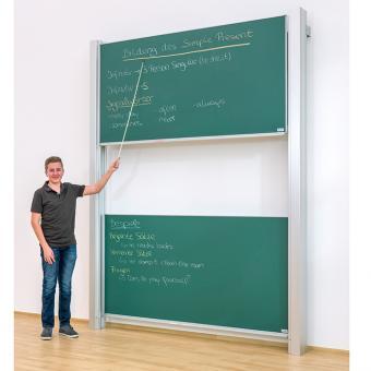 Zweiflächige Pylonentafel Fläche 200 x 120 cm | Whiteboard (für Boardmarker)