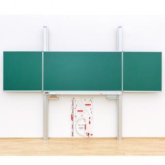 Pylonen Klapp-Schiebetafel Mittelfläche 200 x 120 cm   Whiteboard (für Boardmarker)