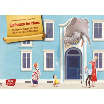 Kamishibai-Bildkarten, Elefanten im Haus