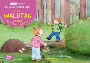 Kamishibai-Bildkarten, Einen Waldtag erleben mit Emma und Paul