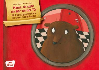 Kamishibai-Bildkarten, Mama, da steht ein Bär vor der Tür