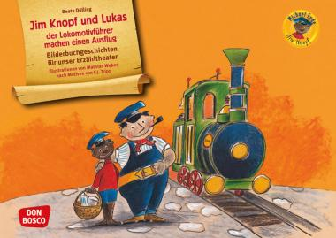 Kamishibai-Bildkarten, Jim Knopf und Lukas der Lokomotivführer machen einen Ausflug