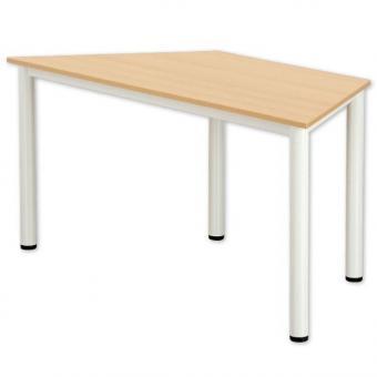 Trapez-Tisch, Bein-Stahlrohrprofil rund
