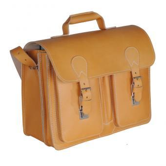 Lehrer-Büchertasche, Leder - natur