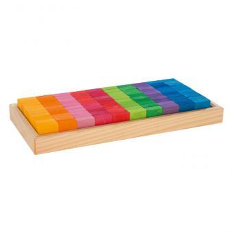 Bunte Bausteine zum kreativen Spielen und Lernen Mosaik-Bauplättchen, 100 Stück