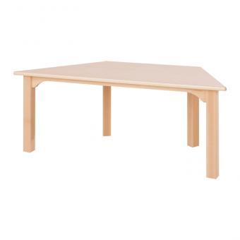 Trapez-Holztisch, 46 cm hoch