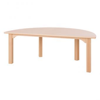 Halbrund-Holztisch Höhe: 53 cm