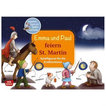 Erzählschiene, Spielfiguren-Sets, Emma und Paul feiern St. Martin