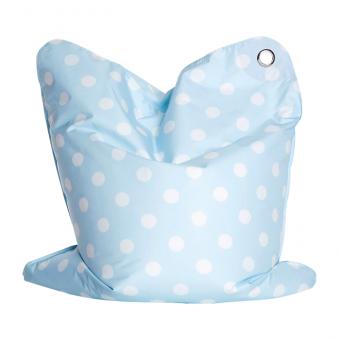 Sitzsäcke Charlotte blau gepunktet