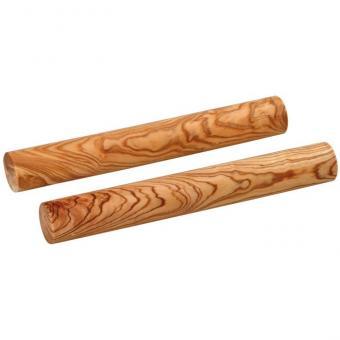 Paar Claves aus Kokosnußholz, 20 cm