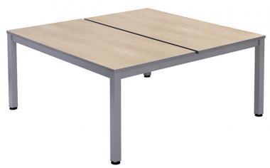 Getrennter Doppeltisch ohne Trannblende und Schubladen