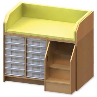 gro er wickelschrank mit treppe und 12 schubladen g nstig online kaufen. Black Bedroom Furniture Sets. Home Design Ideas