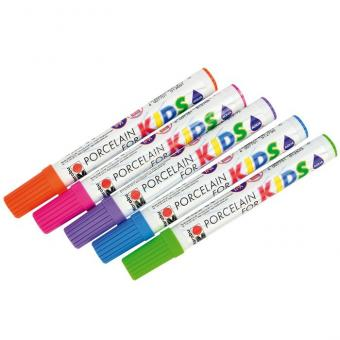 Porzellanstifte für Kinder 5 Stifte in Trendfarben