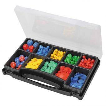 Spiel und Zählmaterial im Sortier-Koffer