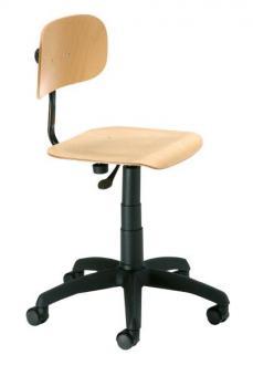 Drehstuhl, mit Gleitern und höhenverstellbarem Rücken