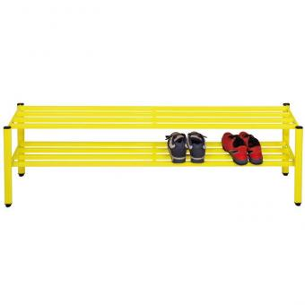 Schuhregal für Halbschuhe Höhe 30 cm - 150 cm breit - gelb