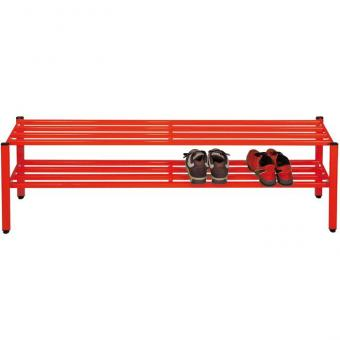 Schuhregal für Halbschuhe Höhe 30 cm - 150 cm breit - rot