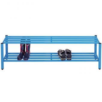 Schuhregal für Halbschuhe Höhe 30 cm - 150 cm breit - blau