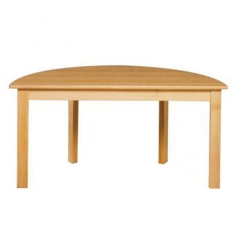Halbrund-Tisch, 120 x 60 cm Höhe: 40 cm