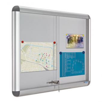 Innenvitrine Rondo 10x DIN A4 - H x B: 70 x 118 cm