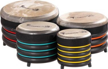 Trommus-Drums – Bodentrommel Höhe: 16 cm – Ø 17 - gelb