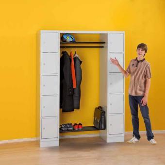 Garderobe mit Eigentumsfächern