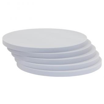 Runde Schallabsorber-Platten Grau - Ø 40 cm