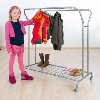garderobenwagen mit 14 haken f r kinderg rten g nstig. Black Bedroom Furniture Sets. Home Design Ideas