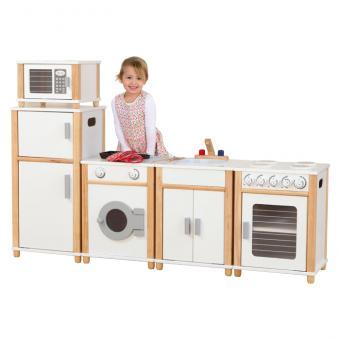 Weiße Kindergarten-Modulküche