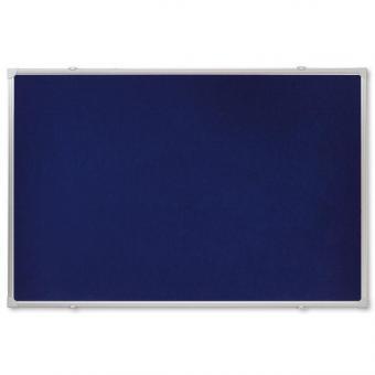 Textiltafel mit Alurahmen in blau - 120 x 90 cm