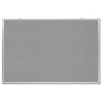 Textiltafel mit Alurahmen in grau - 120 x 90 cm
