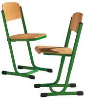 Schülerstuhl mit Doppel U-Fuß, höhenverstellbar