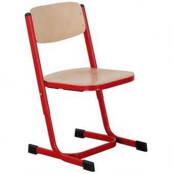 Schülerstuhl mit Doppel U-Fuß Größe 2 (42-50 cm) mit geschlossenem Sitzträger