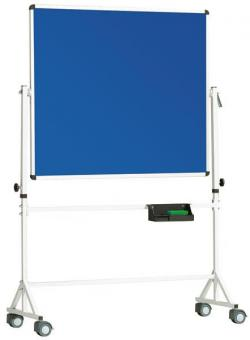 Fahrbare Drehtafel Stahlemaille, blau - B x H: 190 x 100 cm